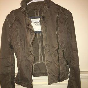 Abercrombie olive moto jacket